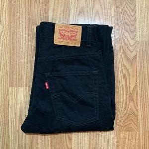 Levi's 550 Boys 12 Reg Black Jeans